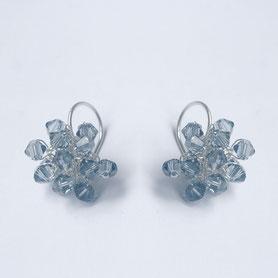 jeansblauw swarovski oorbellen
