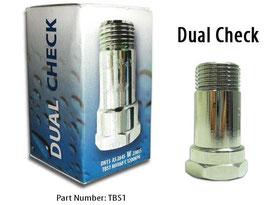 Handspray dual check back flow valve