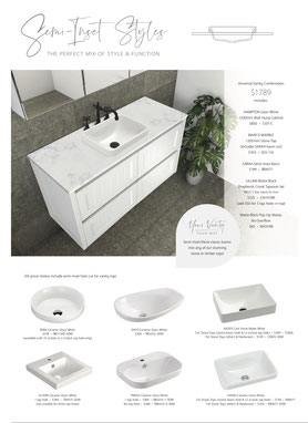 Modern Vintage Collection, Colonial, Federation, Hampton, Washington, Rotondo, Wall Hung Vanity, Vanity Kicks, Eva, Chloe, Paola, Koko, Keeto, Fienza