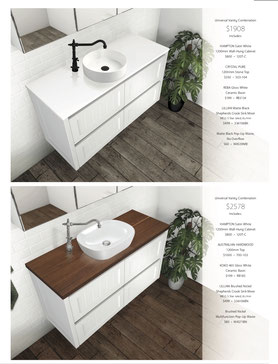Modern Vintage Collection, Colonial, Federation, Hampton, Washington, Rotondo, Wall Hung Vanity, Vanity Kicks, Fienza