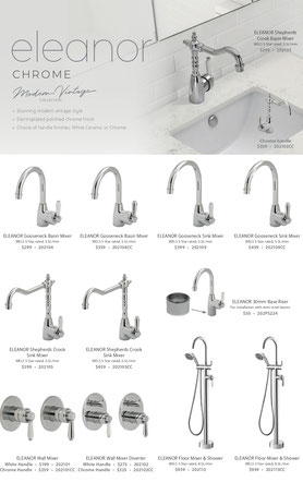 Fienza Eleanor Tapware Mixers