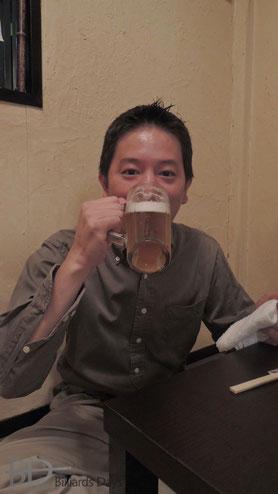 プチ壮行会にて竹島欧プロ(JPBF)