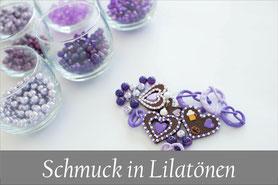 Trachtenschmuck individuell lila Trachtenkette