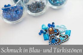 Trachtenschmuck blau