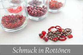 Trachtenschmuck Perlen Kropfband rot