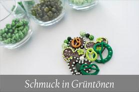 Trachtenschmuck Kropfkette grün