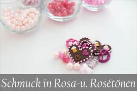Trachtenschmuck Kropfkette Rosa Pink