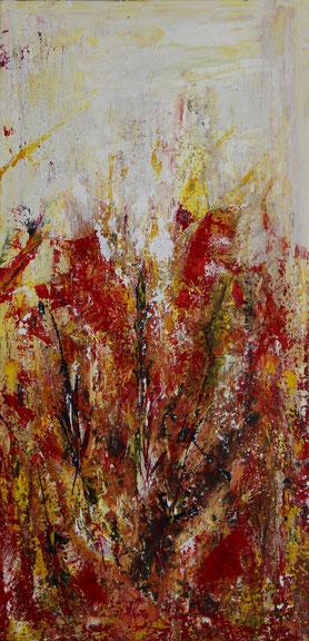 """Magma 3"", Acryl auf Leinwand, 40x80 cm"