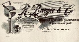 Briefkopf der Fa. R. Burger & Co. ab 1904