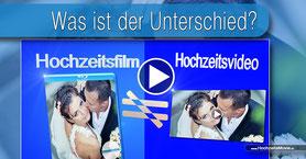 Hochzeitsfilm und einem Hochzeitsvideo