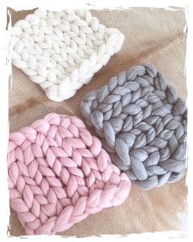 Sitzkissen Wolla Strickmaufaktur verschiedene Farben