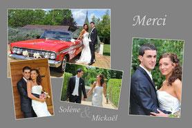carte photo personnalisée avec photo du mariage