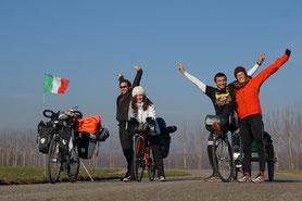 Les couleurs de l'Italie, entre amis!