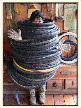 Ceintures en pneu de vélo Tour de France Tour de taille Ceinture sur mesure La Vie des pneus Belt Ceinture boutique en ligne Ceinture Végan