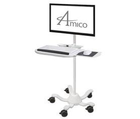 AMICO, モニターロールスタンド, ディスプレイ, キーボード, 病院用