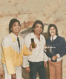 Julio, Jero y Emilio en los camerinos antes de actuar