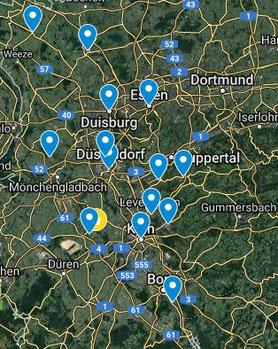 Geistheilungstage mit Jesus Lopez in NRW, NRW Karte vom Geistheilers Jesus Lopez, Geistheilung in Bergheim, Heilung in Deutschland, Heiler Köln, der bekannte Geistheiler Jesus Lopez, spirituelle Jahresausbildung in Bergheim