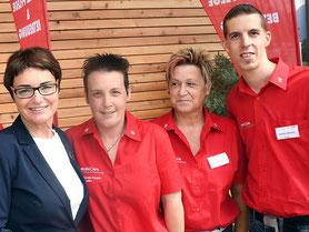 Das Team von mobiCura mit Landeshauptmannstellvertreterin Beate Prettner