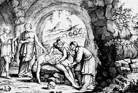Raffigurazione di dissezione di un cadavere.