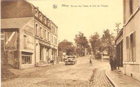 Bureau de Poste  Bifurcation: Tout droit la rue vers Pétange - à droite vers Rodange