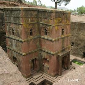 Die Kirche von Lalibela in Äthiopien