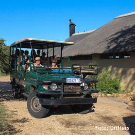 Safari  auf einer Lodge in Südafrika