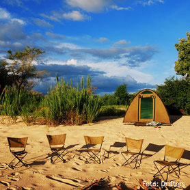 Zeltsafari in Namibia