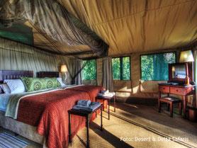 Botswana Flugsafari Übernachtung in einer Luxuslodge