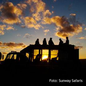 Sundowner auf einer Safari, Südafrika