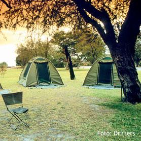 Zelten auf einer Campingsafari in Südafrika