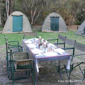 Zelten auf einer Campingsafari in Namibia