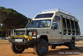 Botswana Lodgesafaris Allradfahrzeug für Selbstfahrer