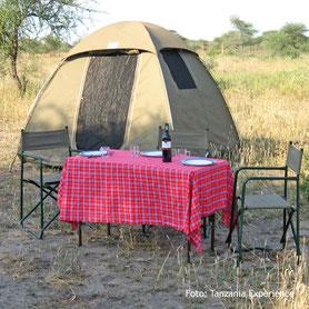 Campingsafari im Zelt in Tanzania