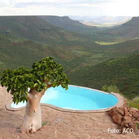 Schöner Ausblick auf einer privat geführte Reise in Namibia