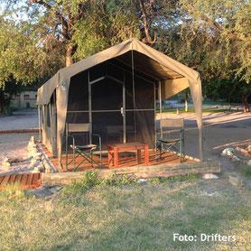 Botswana Safaris - Übernachtung in Zelten
