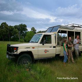 Luxuriöse Botswana Safaris - Pirschfahrt