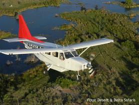 Botswana Flugsafari über den Okavango Delta