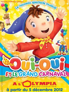 OUI OUI à l'olympia pour NOEL 2012 spectacles de noel