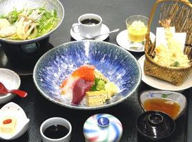 海鮮ちらし寿司御膳 1,600円(税別)