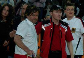 Somnitz (r.) mit Thomas Anders und Joey Kelly