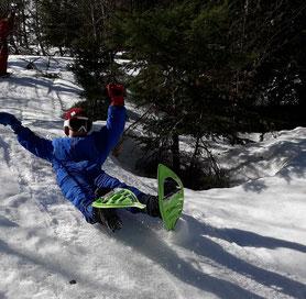 balade 1/2 journée raquettes enfants mes premiers pas dans la neige ariège pyrenées