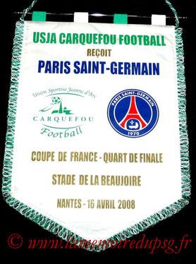 Fanion officiel  PSG-Bastia  2008-09