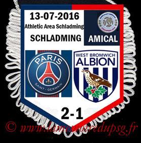 Fanion  PSG-West Bromwich Albion  2016-17