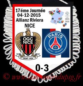 Fanion  Nice-PSG  2015-16