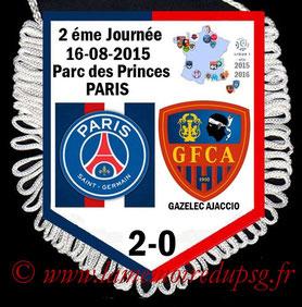 Fanion  PSG-Gazelec Ajaccio  2015-16