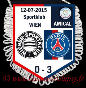 Fanion  Wiener Sportklub-PSG  2015-16