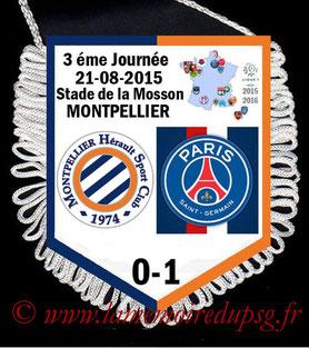 Fanion  Montpellier-PSG  2015-16