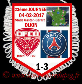 Fanion  Dijon-PSG  2016-17