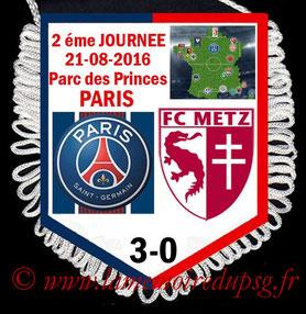 Fanion  PSG-Metz  2016-17