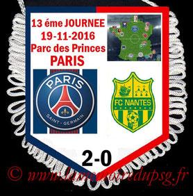 Fanion  PSG-Nantes  2016-17